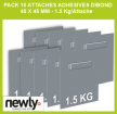 Pack 10 attaches adhesives dibond 45 x 45 mm - 1.5 Kg