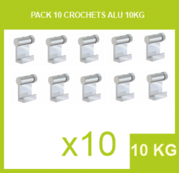 Pack 10 Crochets Alu 10 Kg - 2 mm