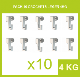 Pack 10 Crochets leger 4 Kg - 2 mm