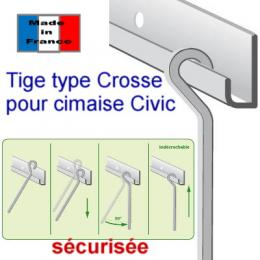 Tige 4 x 4 mm type cross